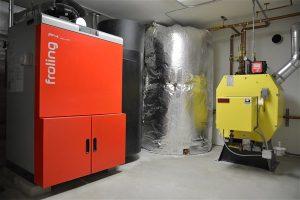 Pelet boiler thermal storage