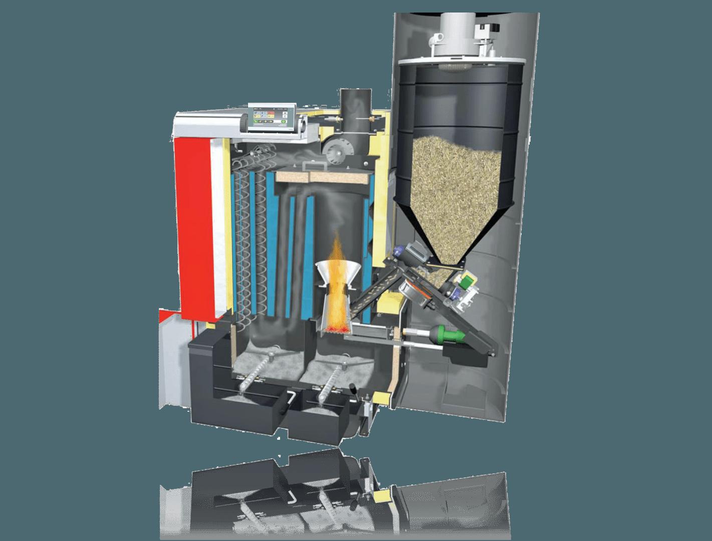 P4 Wood Pellet Boiler by Fröling - Fully Automatic EPA ...