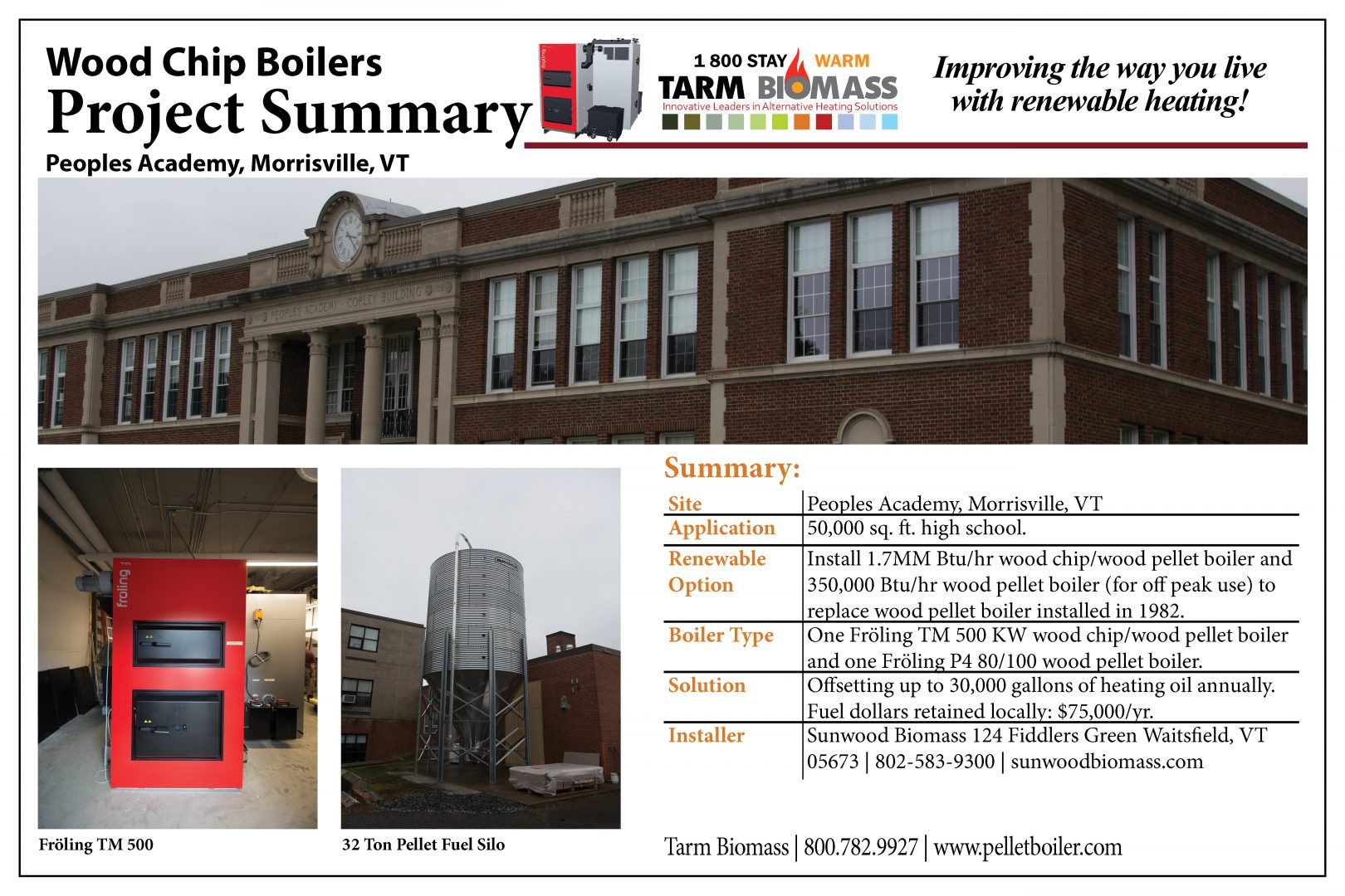wood chip boiler project summary