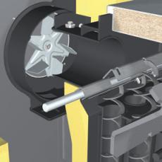 wood chip boiler fan