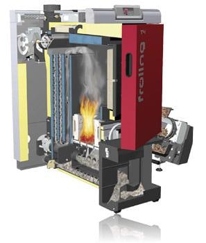 Fröling Cross section wood chip boiler