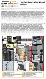 Lambda controlled wood boilers