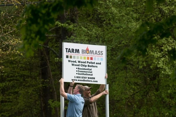 Tarm Biomass Sign