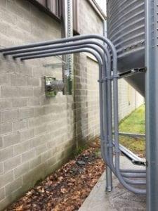 Steel Pellet Supply Pipes