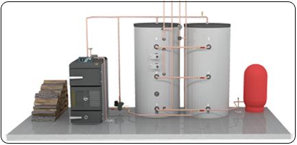 Indoor Wood Boiler Installation