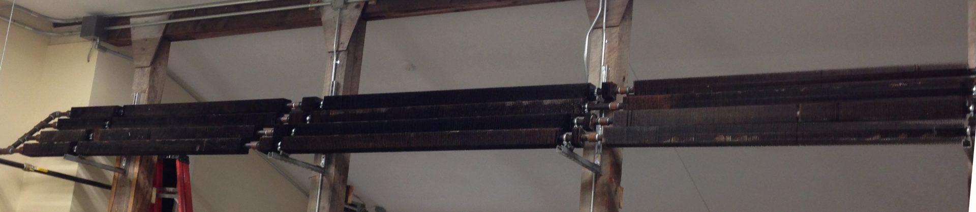 Overheat dump radiators in wood shop