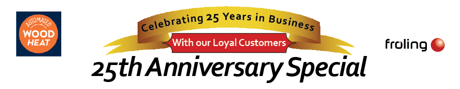 Fröling PE1 20 Boiler Package 25th Anniversary Special.