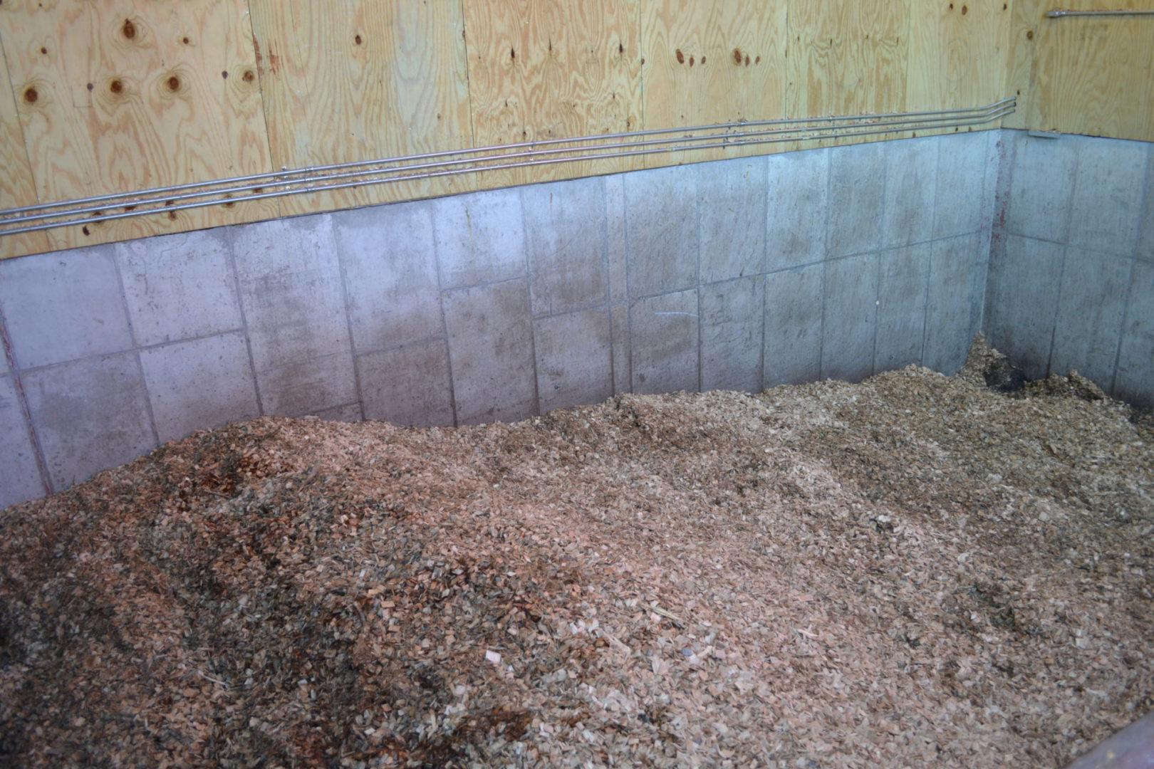 wood chips bunker
