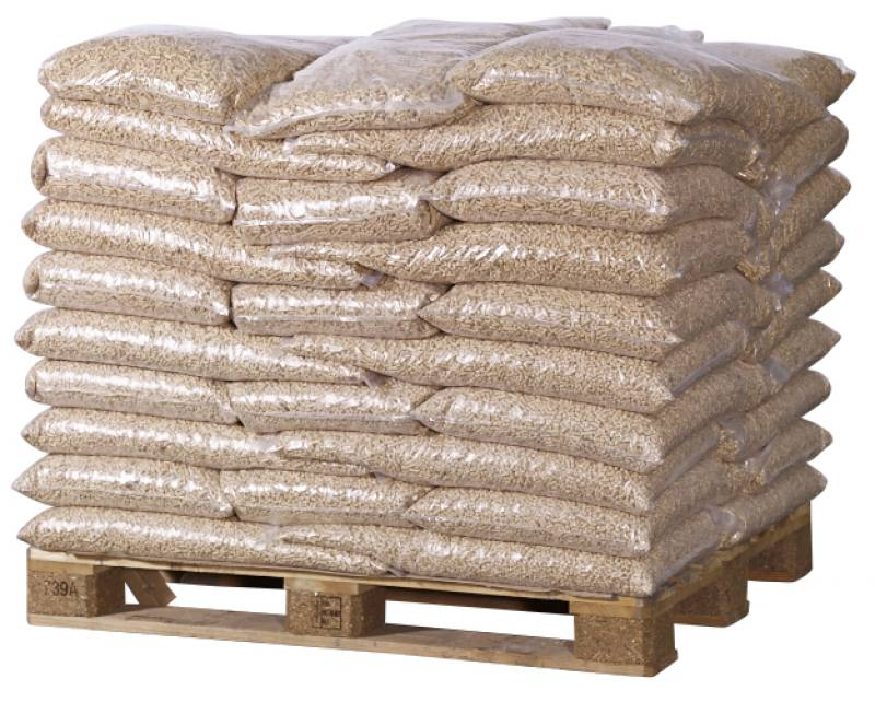 bagged wood chips