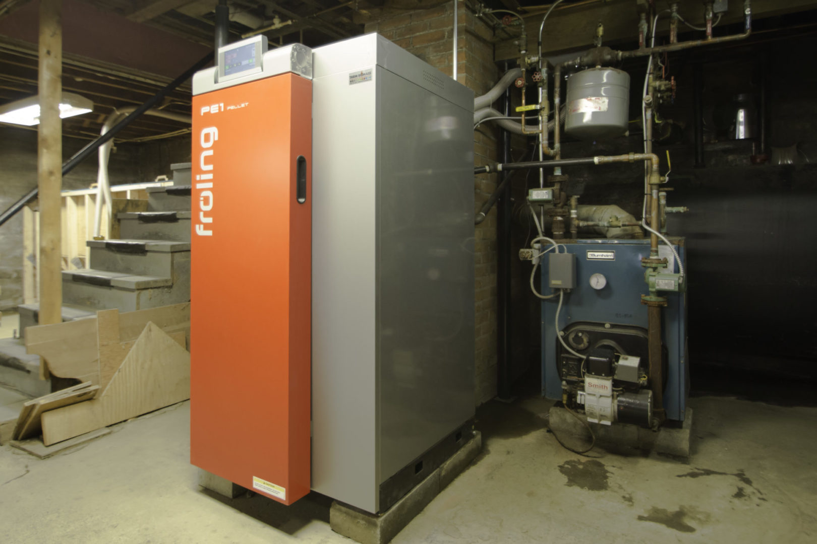 Fröling Pe1 wood pellet boiler