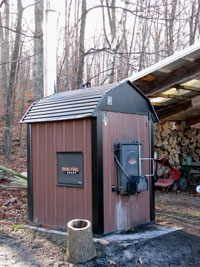 Outdoor wood boiler or outdoor wood furnace installation